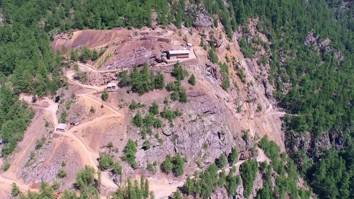 Miniere di Saint-Macel – Settore di Servette – Vista Aerea