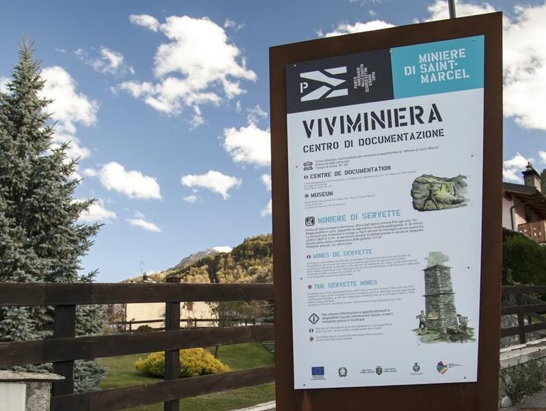 cartello-viviminiera - Miniere Turistiche di Saint Marcel Valle d'Aosta