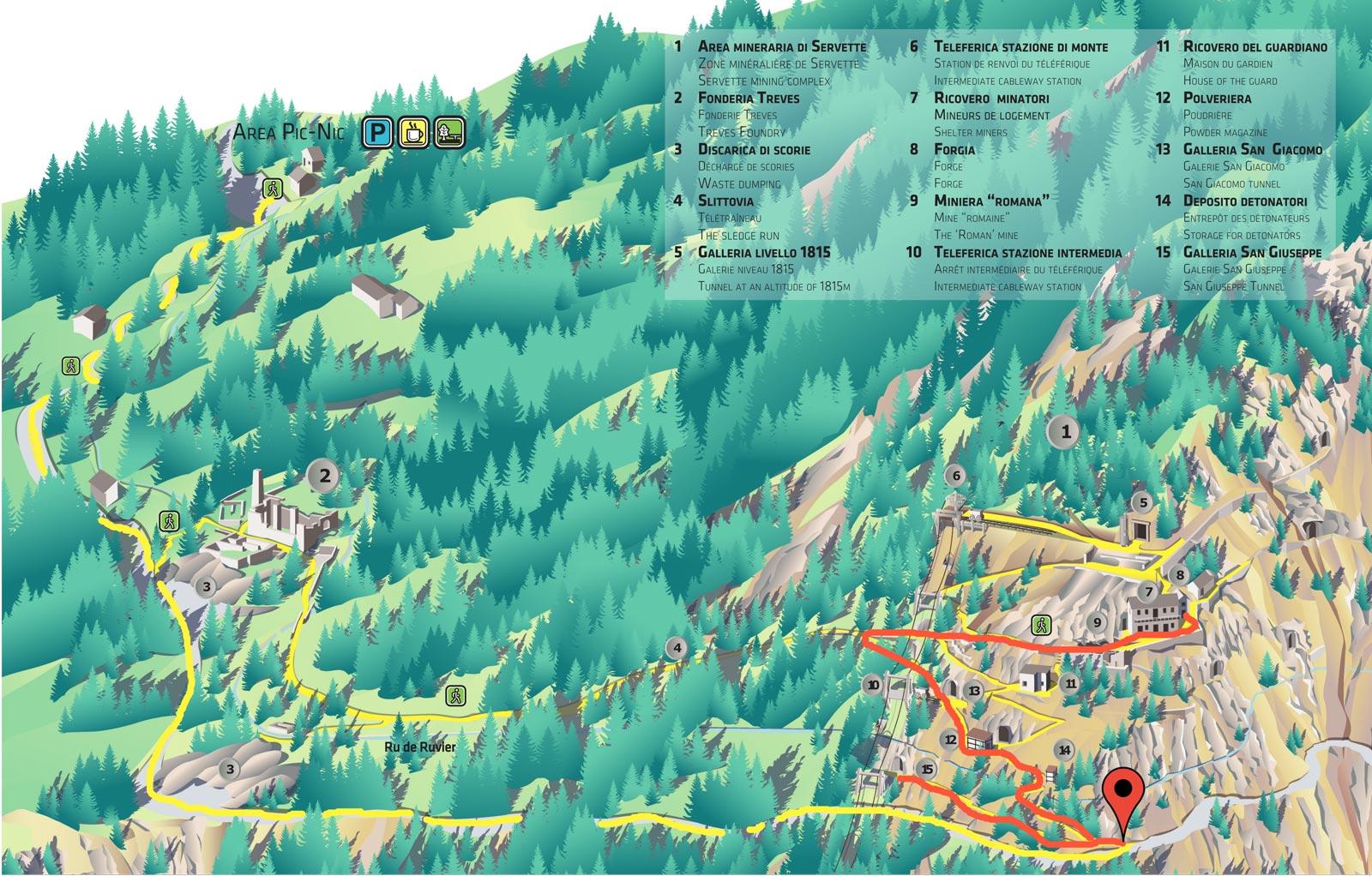 visita breve Miniere Turistiche di Saint Marcel Valle d'Aosta