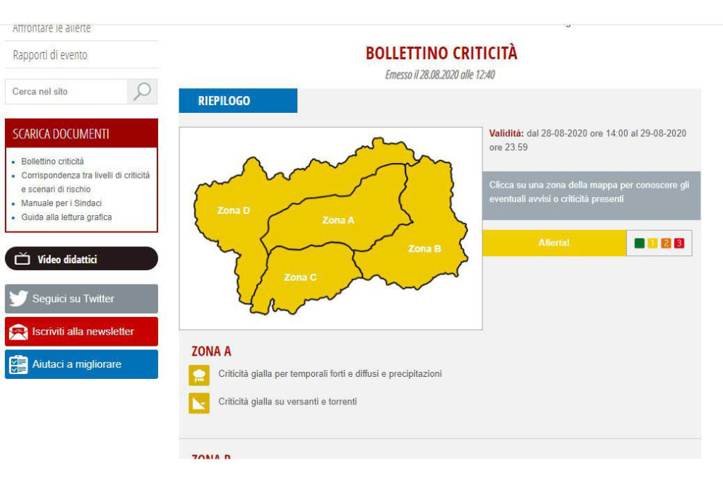 Bolletino Meteo - Mine Experience